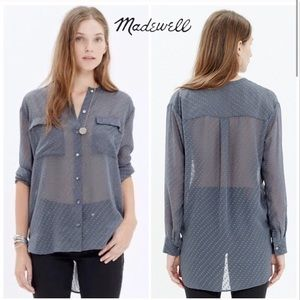Madewell Ice Leaf buttoned blouse